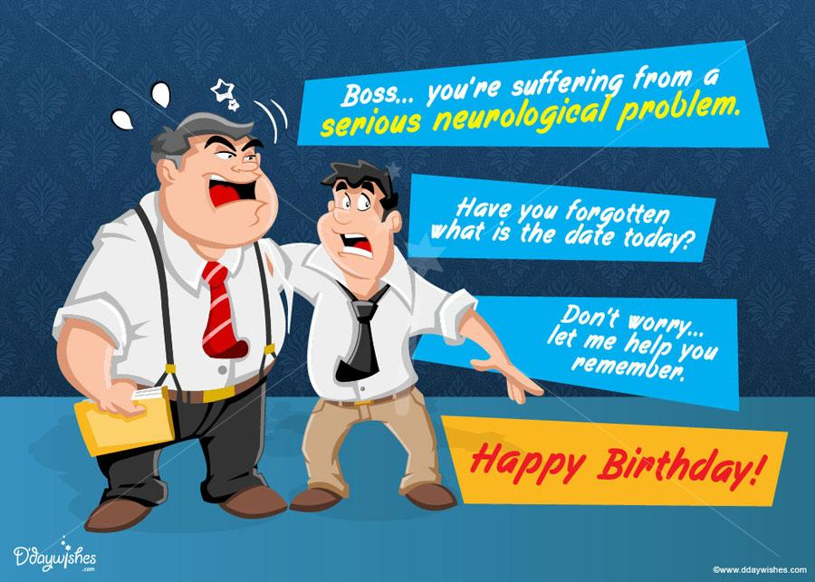 birthday wishes boss card ; suffering-from-a-problem-boss-birthday