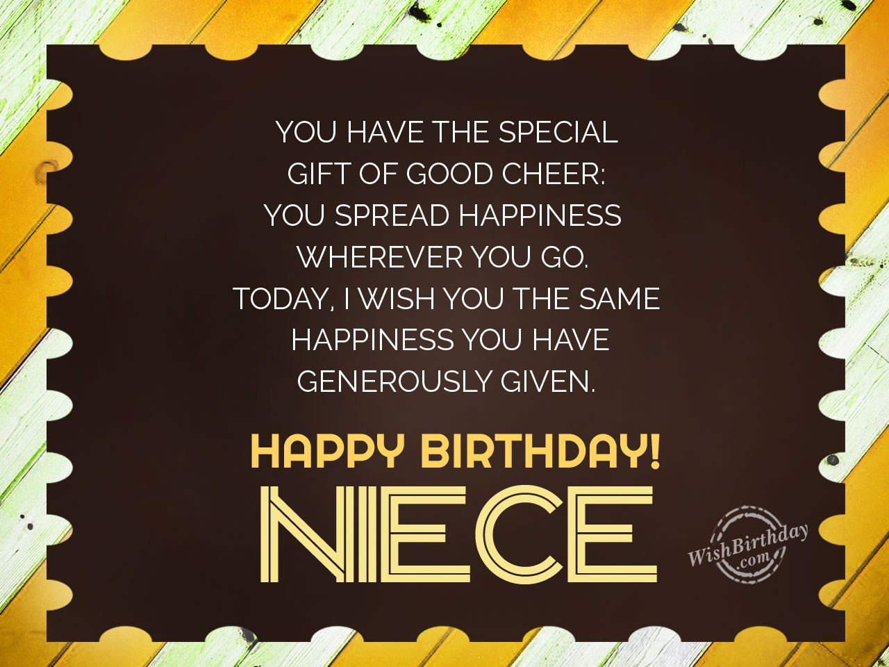 birthday wishes card for niece ; You-have-the-special