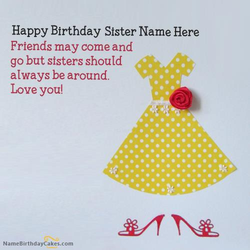 birthday wishes card for sister with name ; 64c706d4f22fba34ddcb81a963b99e0a