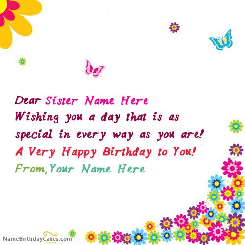 birthday wishes card for sister with name ; f8d410bbecb1e134143debb6a469243c