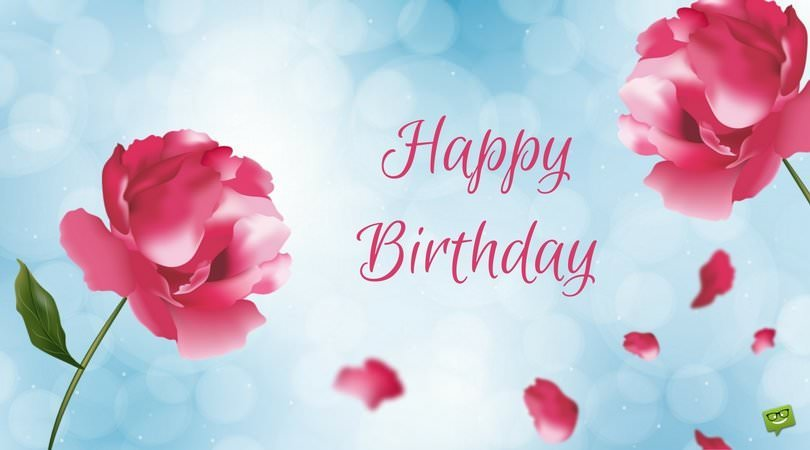birthday wishes card with photo ; Happy-Birthday-card-with-red-flowers-on-sky-blue-background