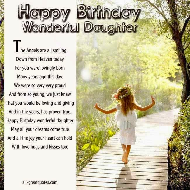birthday wishes daughter poem ; Nice-Happy-Birthday-Wishes-For-Sweet-Angel-Daughter