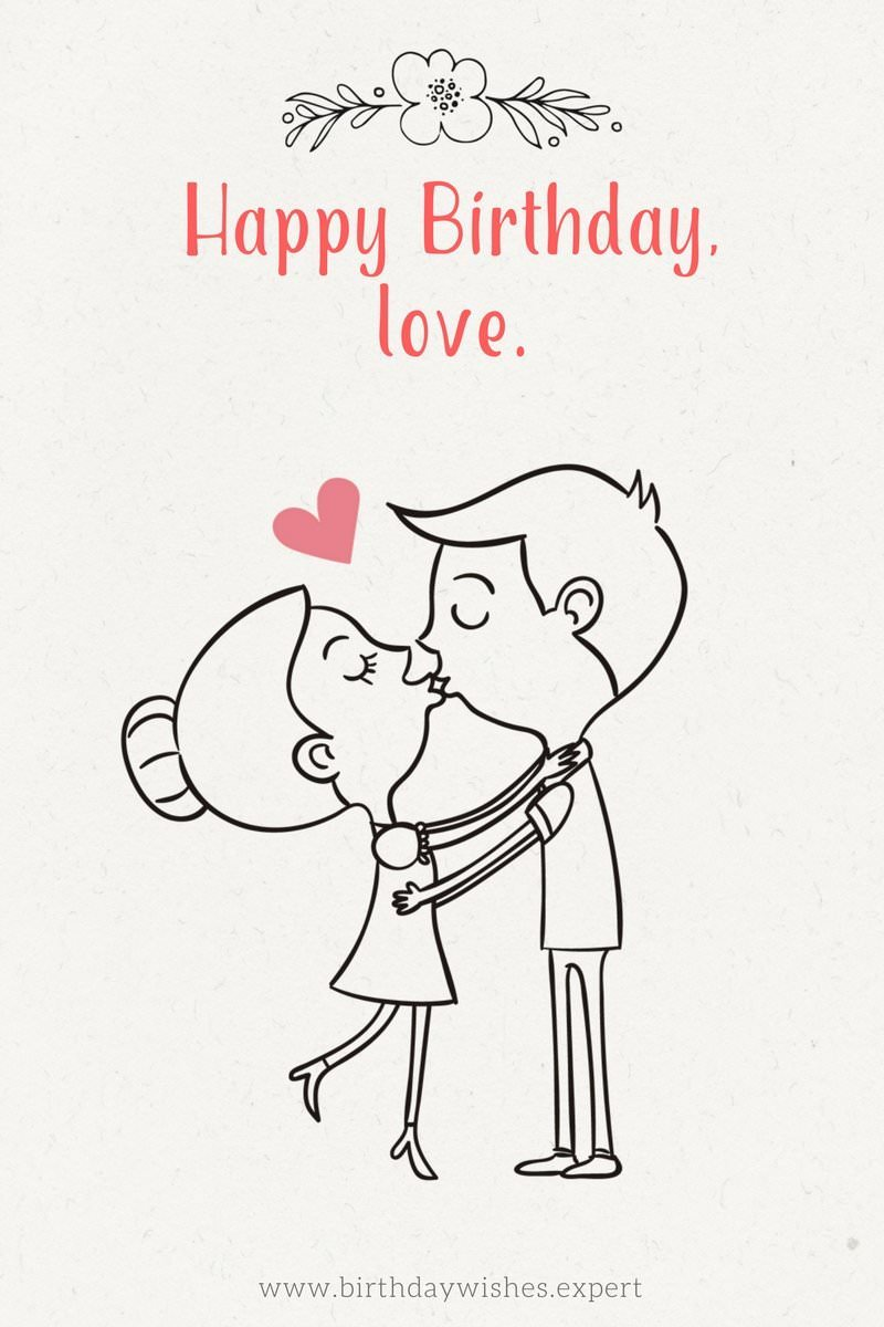 birthday wishes drawings ; Cute-birthday-wish-for-my-love