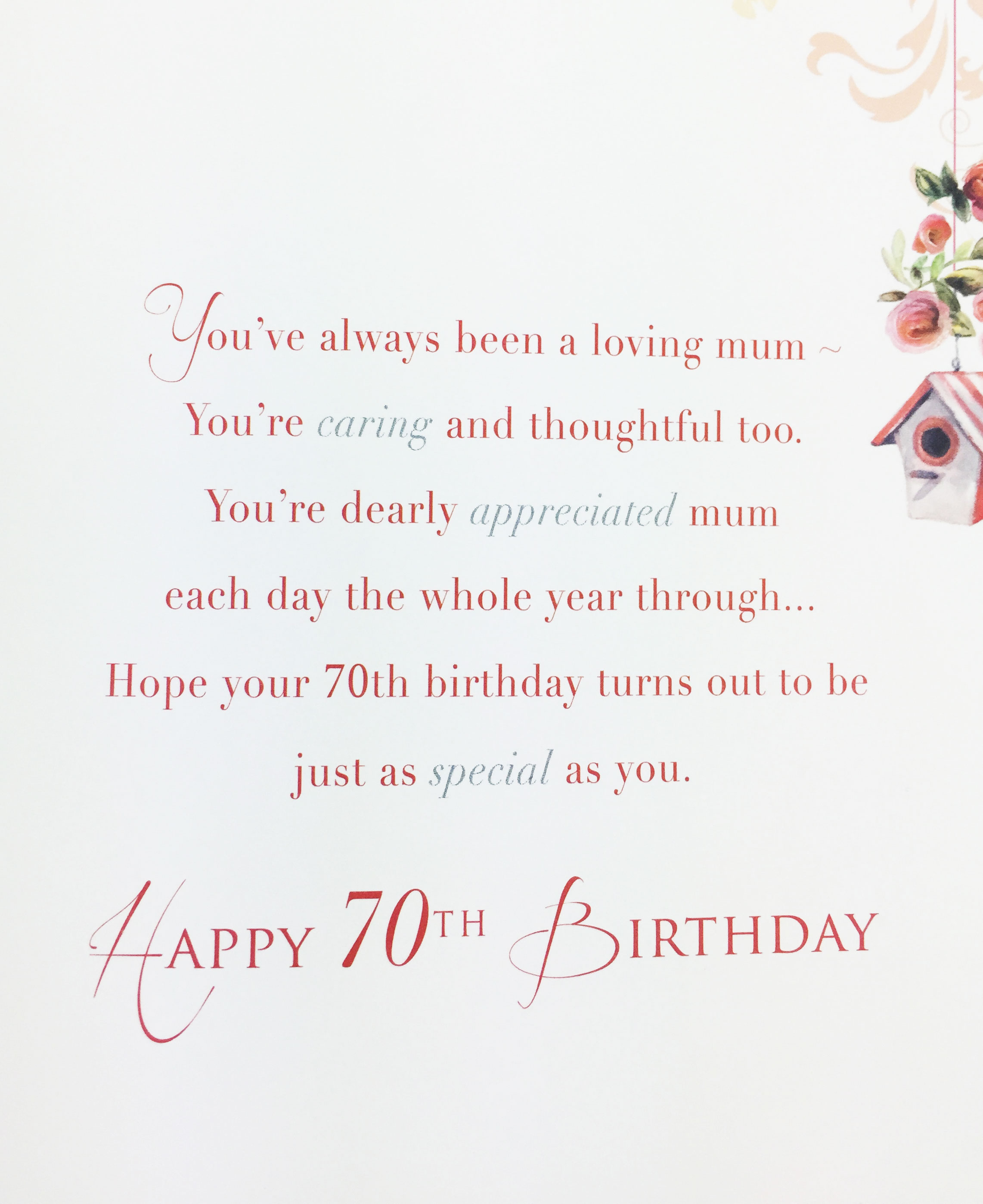 Birthday Wishes For 70th Card 70Th Messages Cards