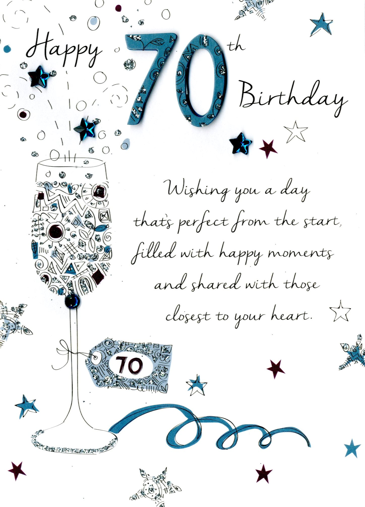 birthday wishes for 70th birthday card ; JT033
