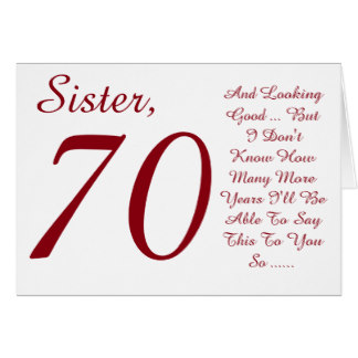 Birthday Wishes For 70th Card Fun Sister Red And White Text R26c17093d4584595819ed2b1ead24e1d Xvuak 8byvr 324
