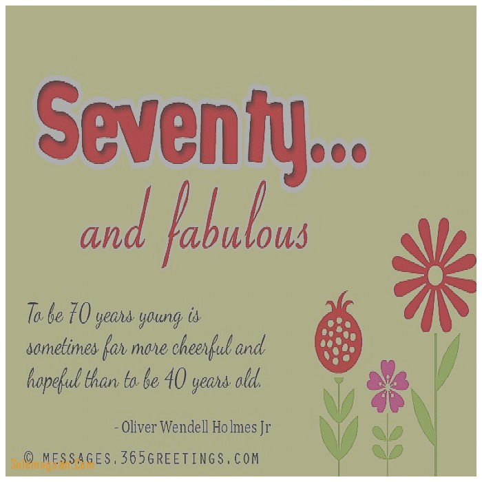 Birthday Wishes For 70th Card Words A