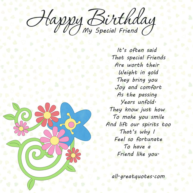 birthday wishes for a special friend poems ; 332e21dbff36d7a34201bdcfbb6a2088