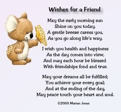 birthday wishes for a special friend poems ; cba04623691b3826c3463216c93663f3