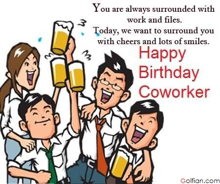Birthday Wishes For Coworker Card Best