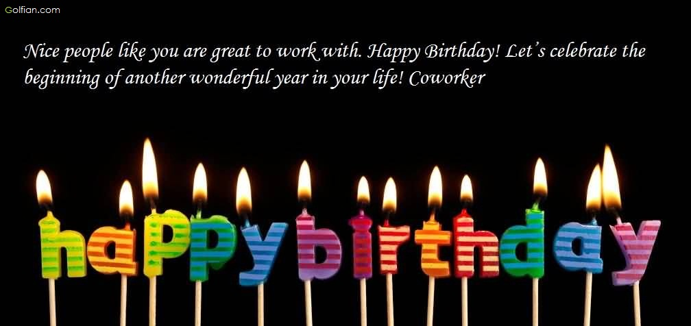 birthday wishes for coworker card ; Lovely-Candle-Birthday-Wishes-For-Coworker-E-Card