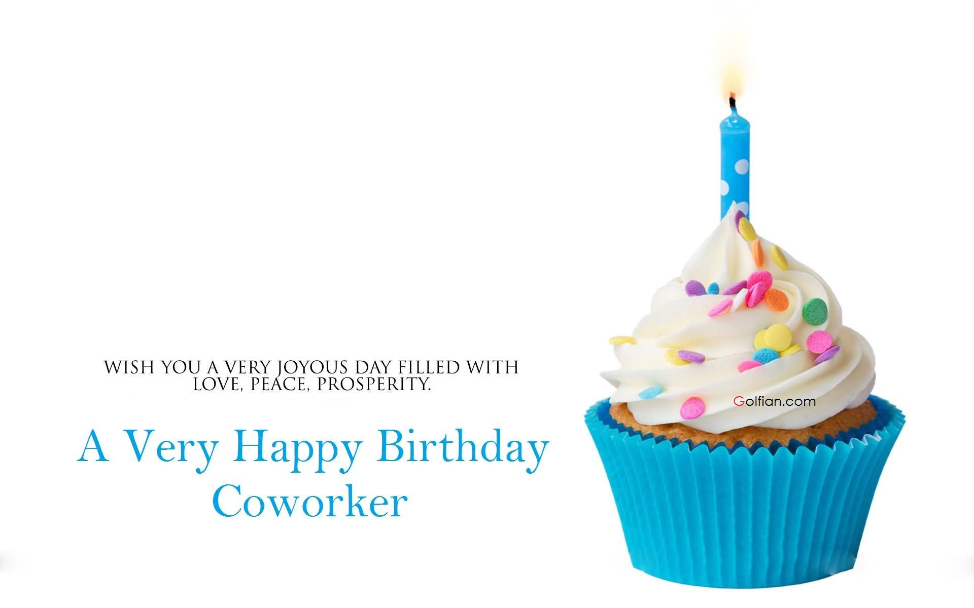 birthday wishes for coworker card ; Tasty-Cup-Cake-Birthday-Wishes-For-Coworker-E-Card