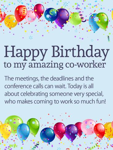 birthday wishes for coworker card ; b_day_fco10-8fc2758112c70b5679334260f278ec2d