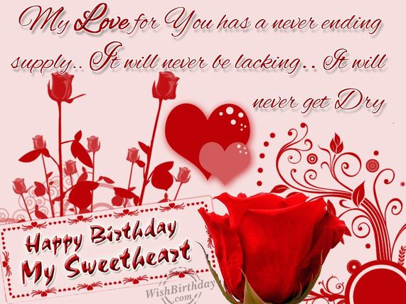 birthday wishes for girlfriend greeting card ; b44a383969b2848fddaeac4cf72b8bf6