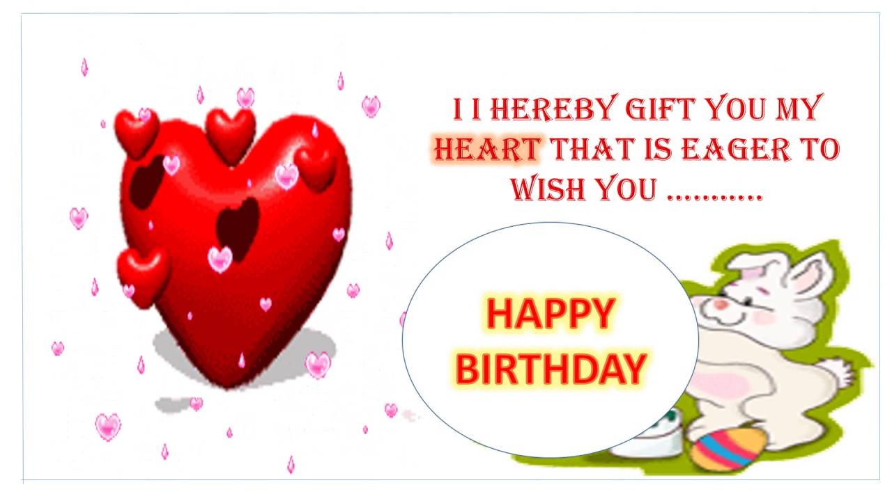 birthday wishes for girlfriend greeting card ; maxresdefault