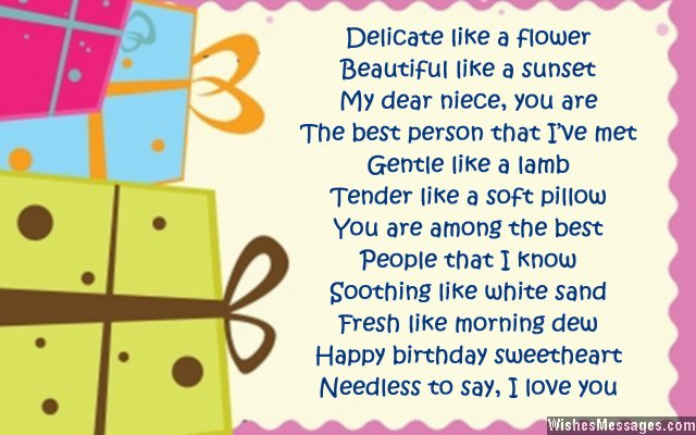birthday wishes for her poems ; Sweet-birthday-card-poem-for-niece