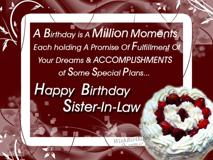 birthday wishes for sister in law poem ; 95858e2f7442b77bc6bf25a0dc8bb655