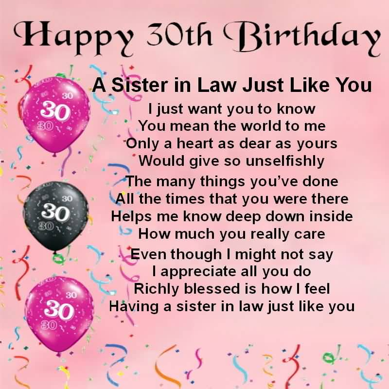 birthday wishes for sister in law poem ; best-quotes-30th-birthday-wishes-for-sister-in-law-greetings