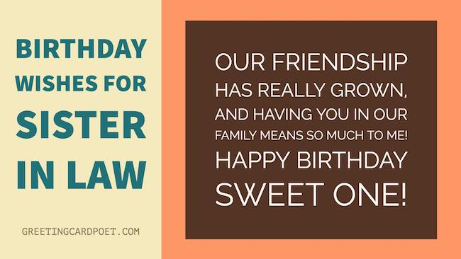 birthday wishes for sister in law poem ; sis-in-law
