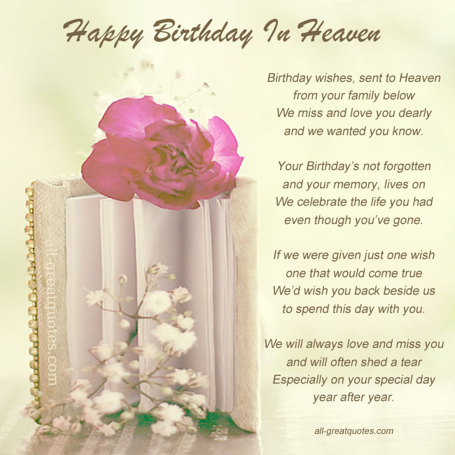 birthday wishes for someone in heaven poem ; 30cf25099c4f8aeb78bc03c199a5a35c