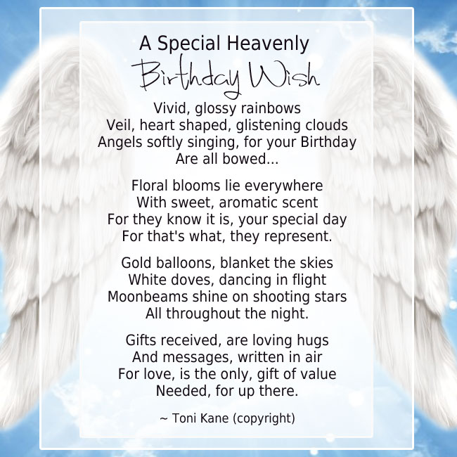 birthday wishes for someone in heaven poem ; 4c03c1e391a9706dcc5e36b501f4101f