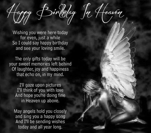 birthday wishes for someone in heaven poem ; 4dd96cdd3ec6834fad23b3ded2f7455c