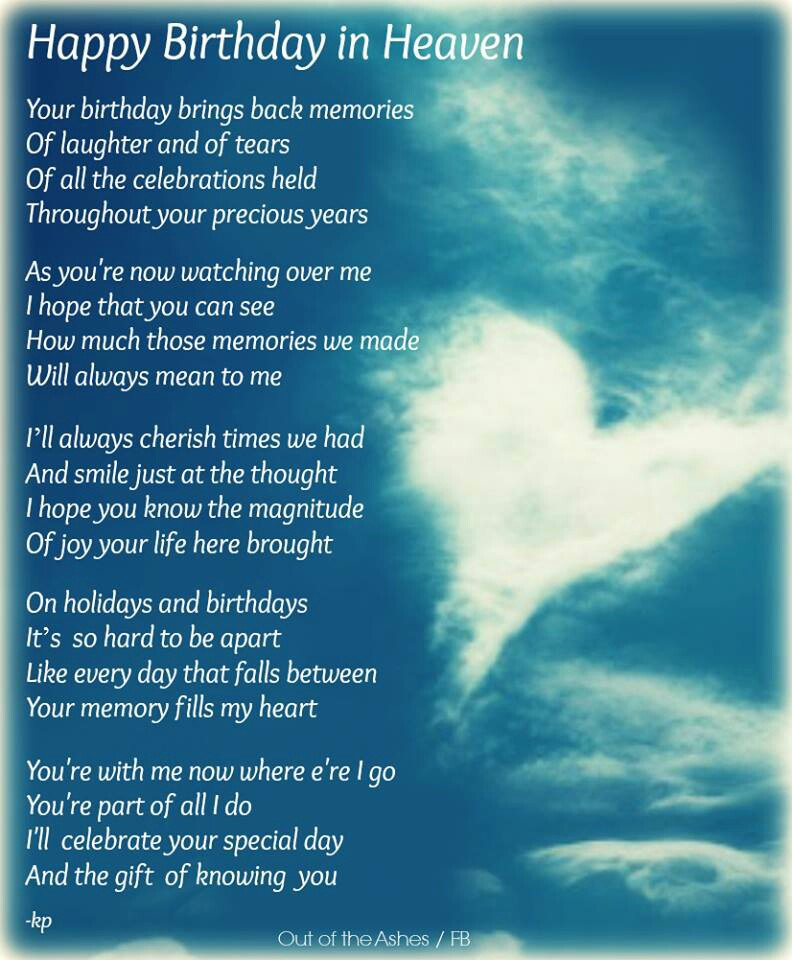 birthday wishes for someone in heaven poem ; 526a2abb0ed86c28f94484ce52261dc0