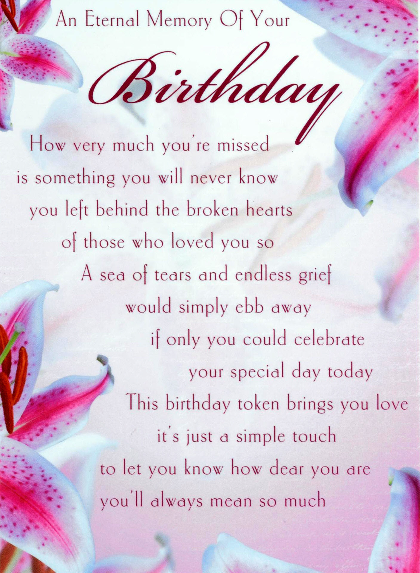 birthday wishes for someone in heaven poem ; 880f9fe31ea99ca60b0ac9498901e00d