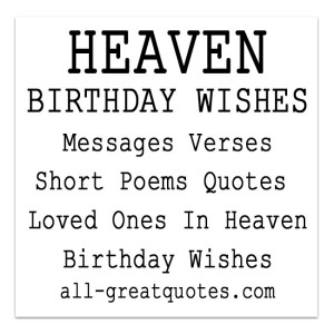 birthday wishes for someone in heaven poem ; 95baa61706a61b5c13bae17d78549d69