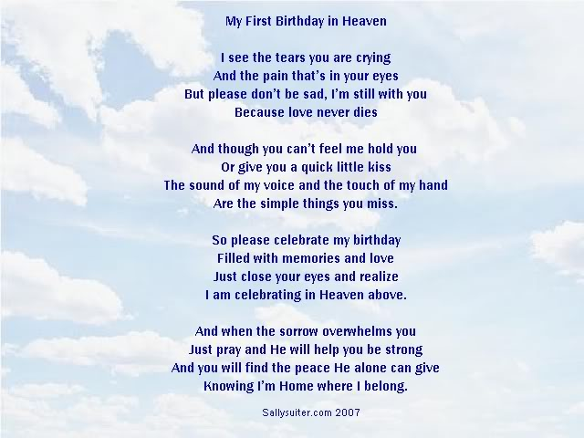 birthday wishes for someone in heaven poem ; cd226e4f799909437e9ae882aa8f05cc