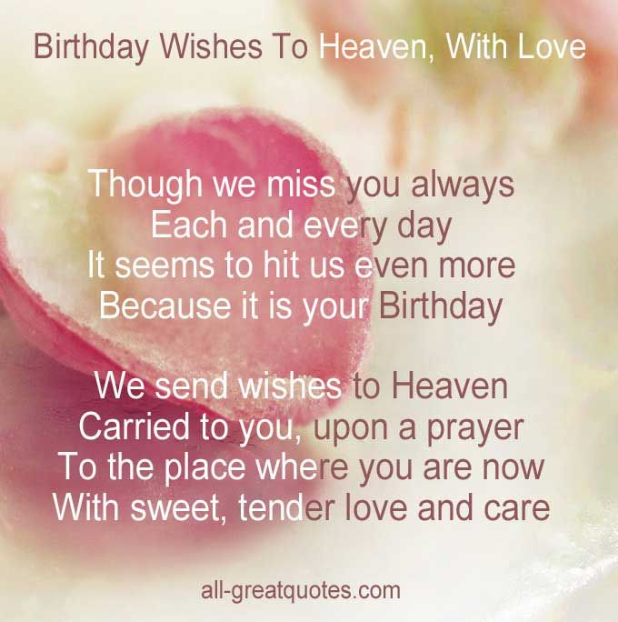 birthday wishes for someone in heaven poem ; de3cf131121d95026e65252fe7a2cc09