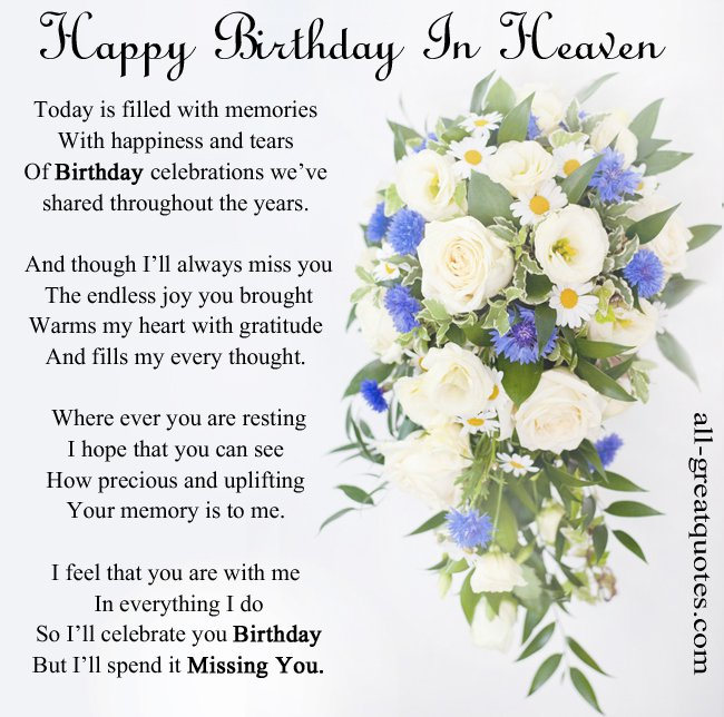 birthday wishes for someone in heaven poem ; e64f397a989e31933721ee1c864da741
