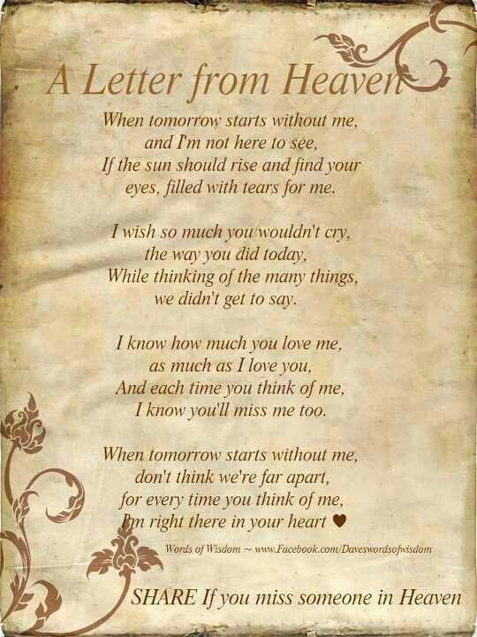 birthday wishes for someone in heaven poem ; ea18cfe419b264b32c71dd3ec2bc434e