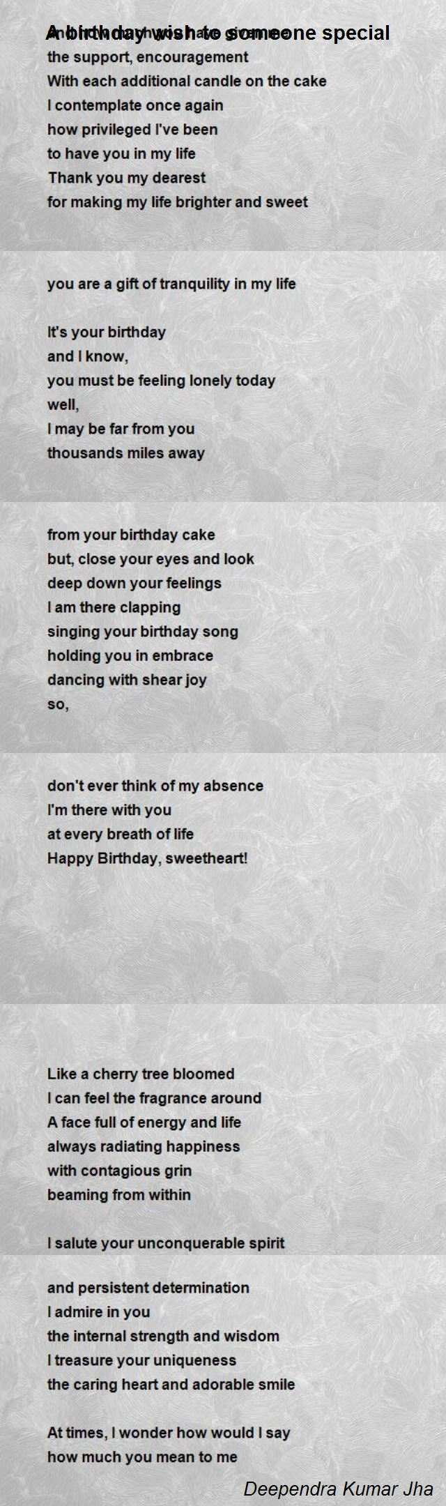 birthday wishes for someone special poem ; a-birthday-wish-to-someone-special