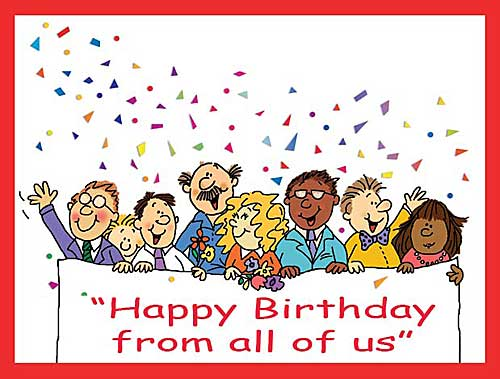 birthday wishes from all of us card ; 107BCALLEGCC