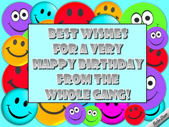 birthday wishes from all of us card ; 312417