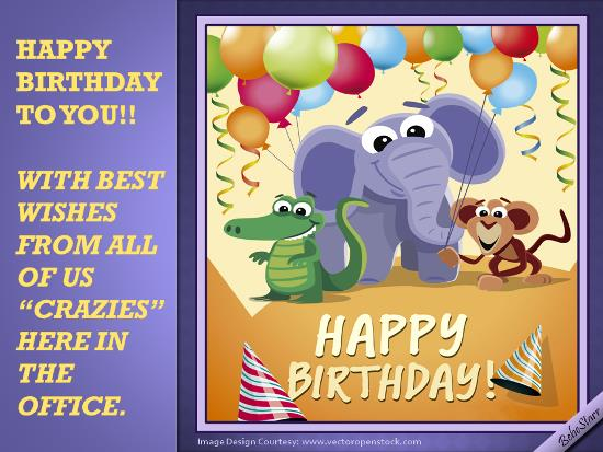 birthday wishes from all of us card ; 318182