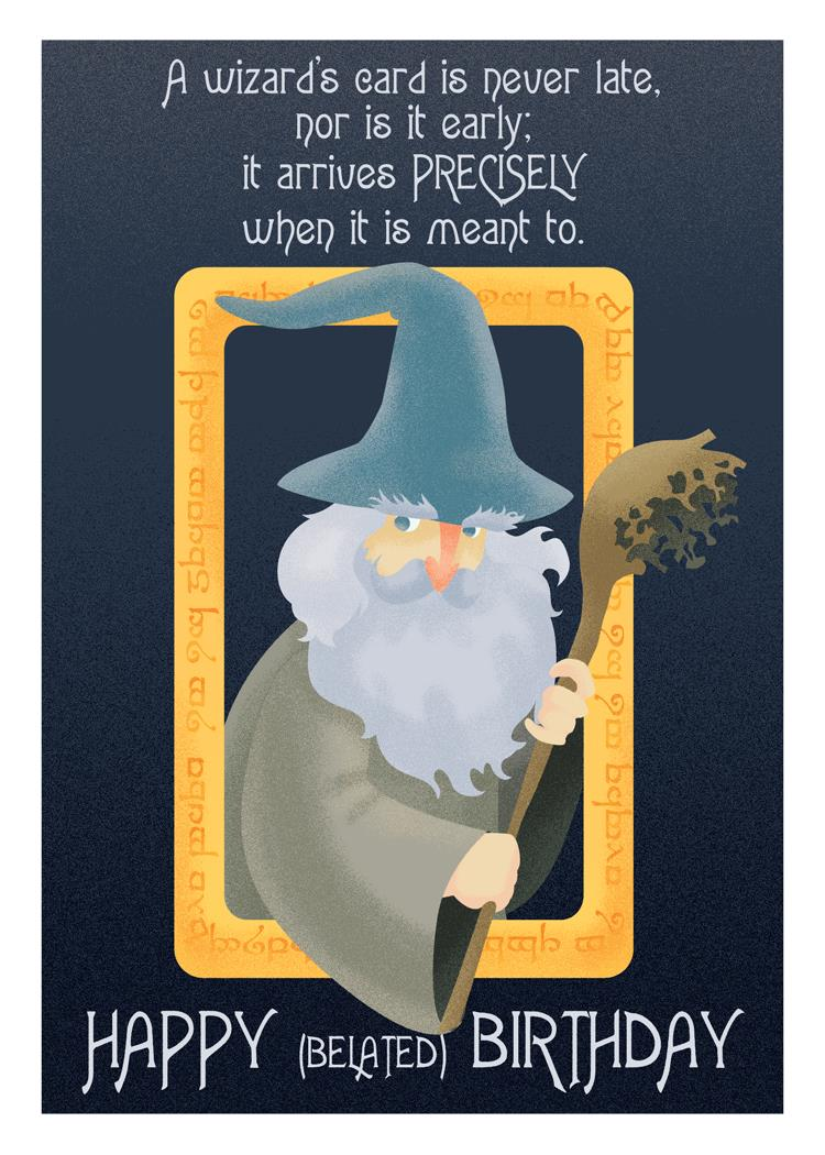 birthday wishes from gandalf card ; 1cd4007c6261ff894724d266165c628f