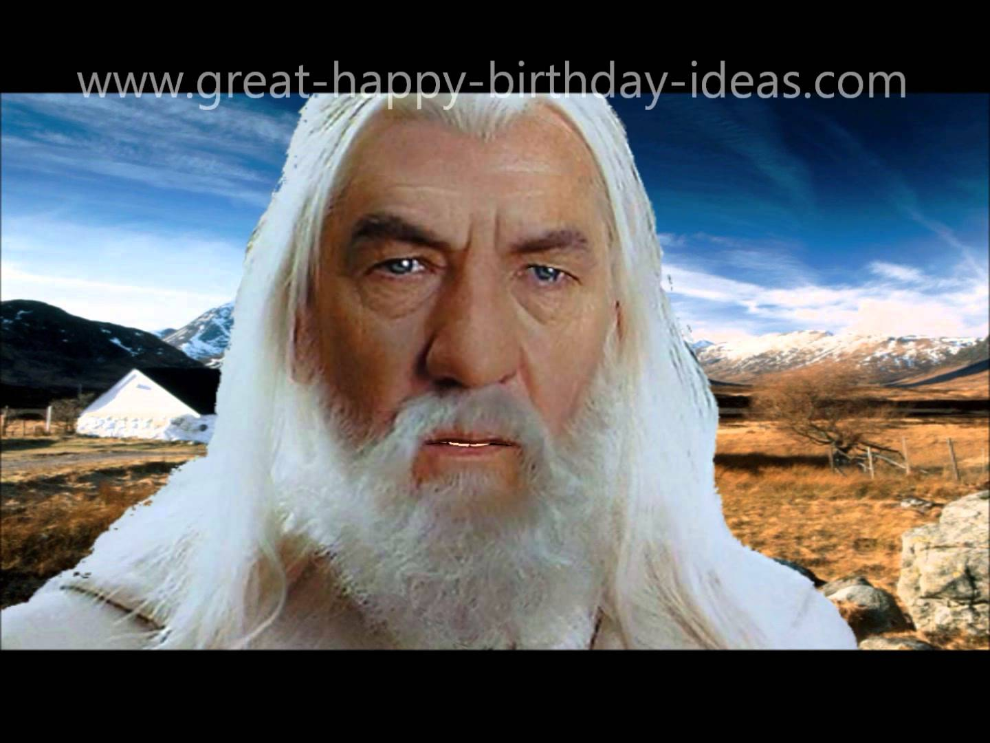 birthday wishes from gandalf card ; maxresdefault
