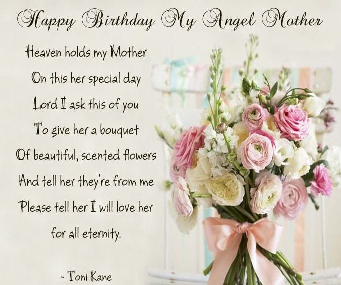 birthday wishes from heaven poem ; 20d50d47b7237dc181fd6e20a4e7ae22-min