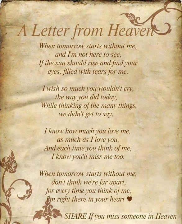 birthday wishes from heaven poem ; 45c692d7d3e7622147a705ae6fac5c77