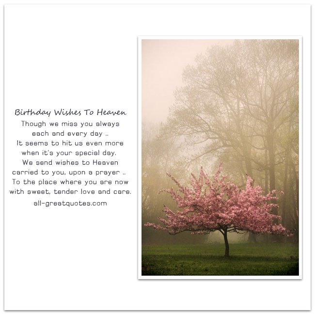 birthday wishes from heaven poem ; Birthday-Wishes-To-Heaven-Cards
