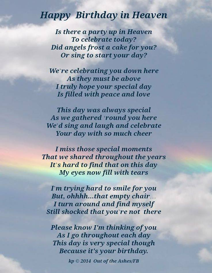 birthday wishes from heaven poem ; d5313e66315949286243e8ddfec7d11a