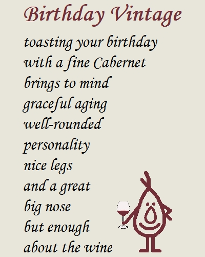 birthday wishes funny poems ; 322417