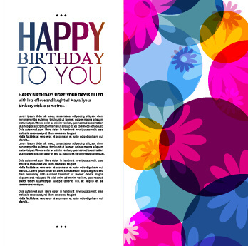 birthday wishes graphics card ; template_birthday_greeting_card_vector_549419