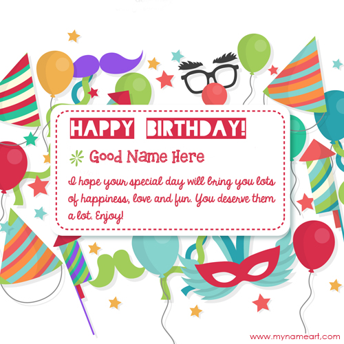 birthday wishes greeting card with name ; birthday-vector-quotes-card