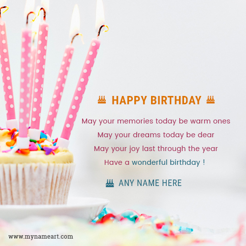 birthday wishes greeting card with name ; cupcake-birthday-wishes-greeting-card