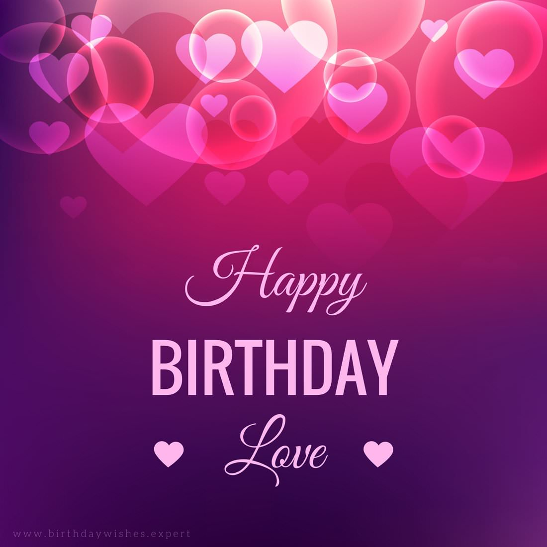 birthday wishes images pictures ; Birthday-wish-for-boyfriend-on-background-with-red-hearts