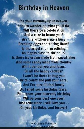 birthday wishes in heaven poem ; 45480824417ab9688a8dfd9fe52ad439