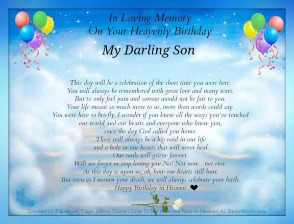 birthday wishes in heaven poem ; 4a79cf7ded71007df899b7a6ee4cce4e